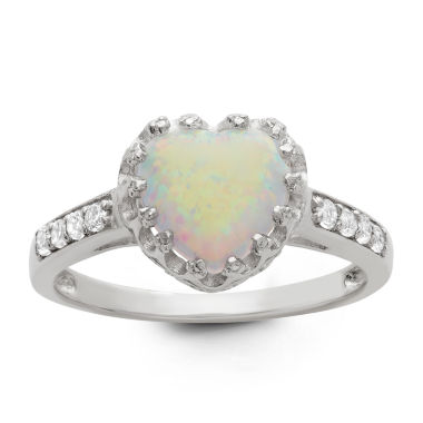 jcpenney.com | Sterling Silver Simulated White Opal Crown Ring