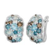 Genuine Multi-Gemstone Sterling Silver Earrings