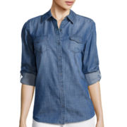 Arizona Long-Sleeve Denim Button-Front Shirt