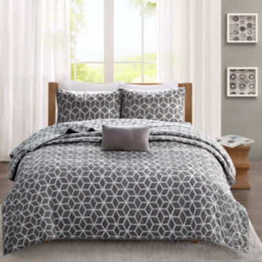 jcpenney.com | Madison Park Pure Andrea 4-pc. Reversible Coverlet Set