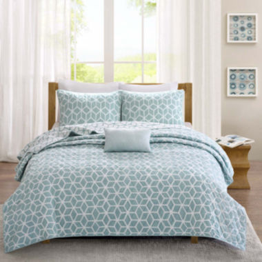 jcpenney.com | Madison Park Pure Camilla 4-pc. Reversible Coverlet Set