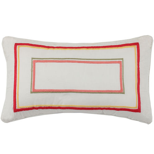 MaryJane's Home Garden View Oblong Decorative Pillow