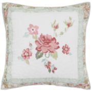 MaryJane's Home Wild Rose Square Decorative Pillow