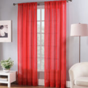 Fiesta® Rod-Pocket Sheer Curtain Panel
