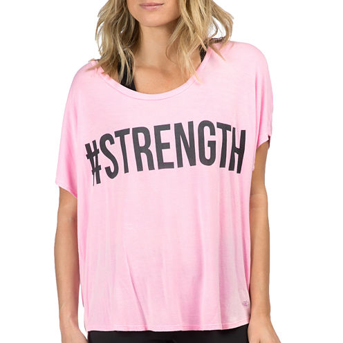 PL Movement by Pink Lotus Cap-Sleeve Strength Tee