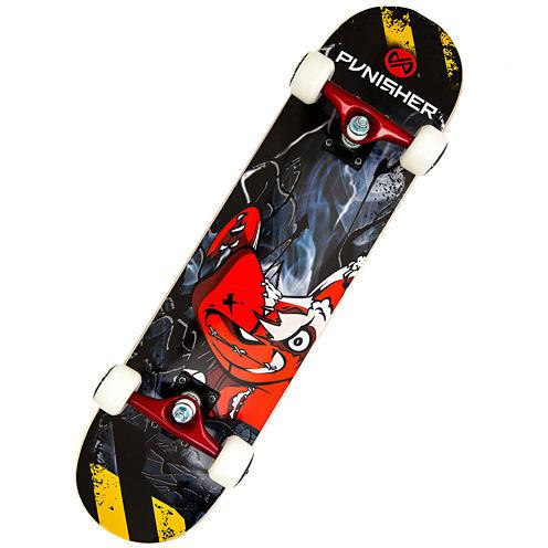 """Punisher Skateboards Teddy 31.5"""" ABEC-7 Complete Skateboard"""