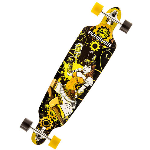 "PUNISHER® Skateboards Steampunk 40"" Longboard"