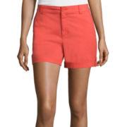 Liz Claiborne® Roll-Cuff Cargo Shorts