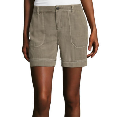 jcpenney.com | Liz Claiborne® Patch-Pocket Cargo Shorts - Tall