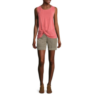 jcpenney.com | Liz Claiborne® Front-Knot Tank Top or Patch-Pocket Cargo Shorts