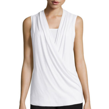 jcpenney.com | Liz Claiborne® Crossover Wrap Tank Top - Tall