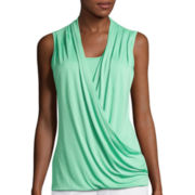 Liz Claiborne® Crossover Wrap Tank Top