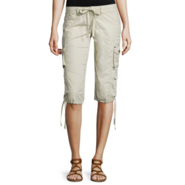 jcpenney.com | Arizona Poplin Cropped Cargo Pants