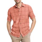 Van Heusen® Short-Sleeve Linen Cotton Shirt