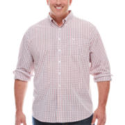 Dockers® Long-Sleeve Small Windowpane Woven Shirt - Big & Tall