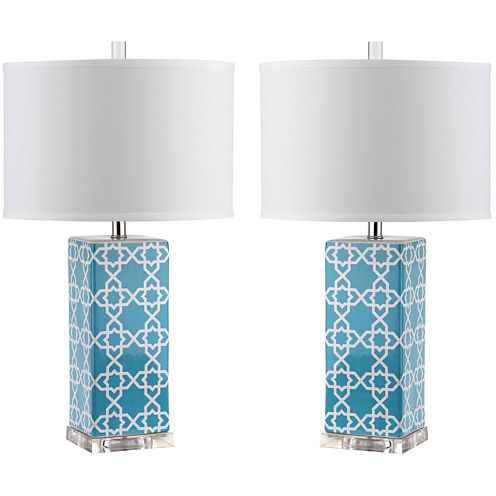 Safavieh Isolde Quatrefoil Table Lamp- Set of 2
