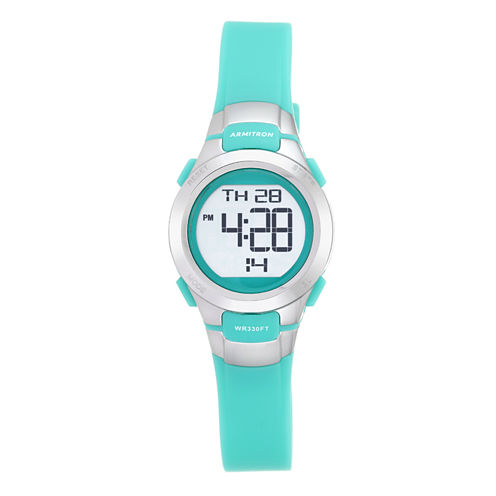 Armitron Pro-Sport Womens Green Strap Watch-45/7012tel