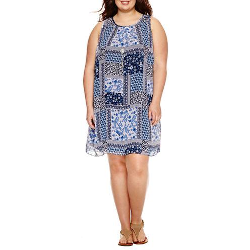 Byer Print Dress - Juniors Plus