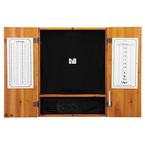 Viper Metropolitan Oak Steel Tip Dartboard Cabinet