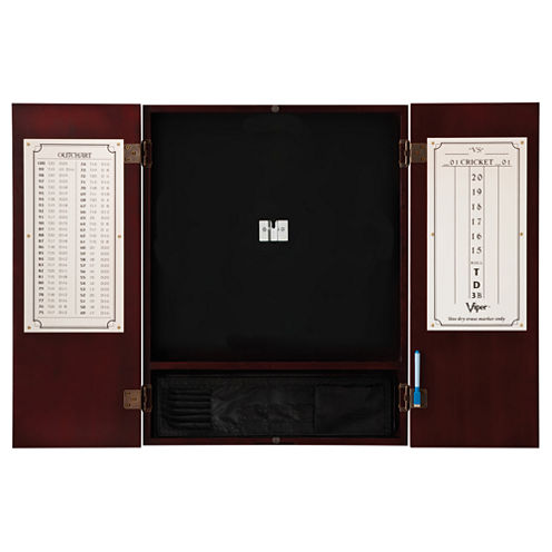 Viper Metropolitan Mahogany Steel Tip Dartboard Cabinet