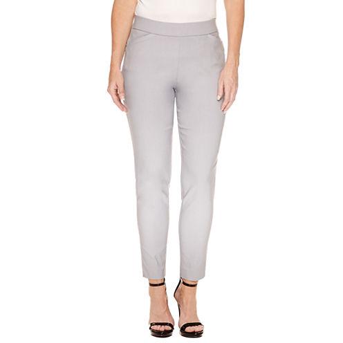 Worthington Slim Fit Pull-On Ankle Pants-Petites