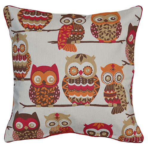 Owls Square Throw Pillow