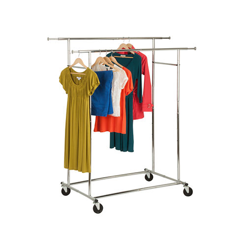 Honey-Can-Do® Dual Collapsible Garment Rack
