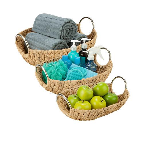 Honey-Can-Do® 3-pc. Oval Water Hyacinth Basket Set