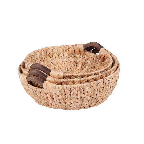Honey-Can-Do® 3-pc. Round Natural Basket Set