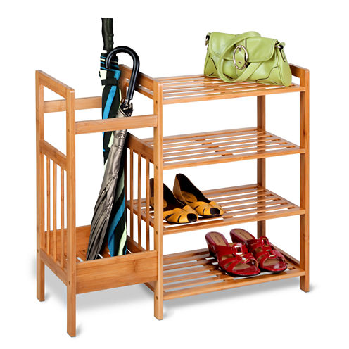 Honey-Can-Do® 4-Tier Bamboo Entryway Organizer
