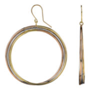 DOWNTOWN BY LANA Tri-Color Gold-Tone Twist Hoop Wire Earrings