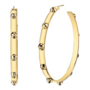 DOWNTOWN BY LANA Gold-Tone Spike Hoop Earrings