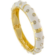 KJL by KENNETH JAY LANE 22K Gold-Plated Crystal Bangle