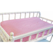 My Baby Sam Pink Polka Dot Changing Pad Cover