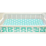 My Baby Sam Aqua Polka Dot Changing Pad Cover