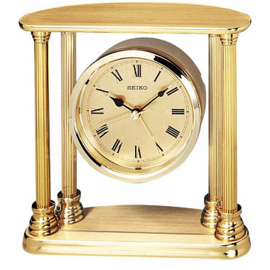 jcpenney.com | Seiko® Desk And Table Alarm With Floating Dial Gold Tone Clock Qhe101gl
