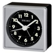 Seiko® Bedside Alarm With Beep Alarm Silver Tone Clock Qhe083slh