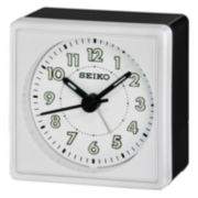 Seiko® Bedside Alarm With Beep Alarm White Clock Qhe083wlh