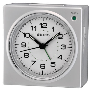 jcpenney.com | Seiko® Silver-Tone Bedside Beep Alarm Clock with Snooze Qhe086slh
