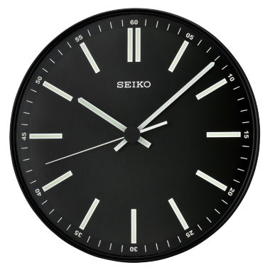 jcpenney.com | Seiko® Quiet Sweep Second Hand Wall Clock Black Qxa521jlh
