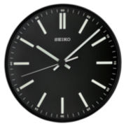 Seiko® Quiet Sweep Second Hand Wall Clock Black Qxa521jlh