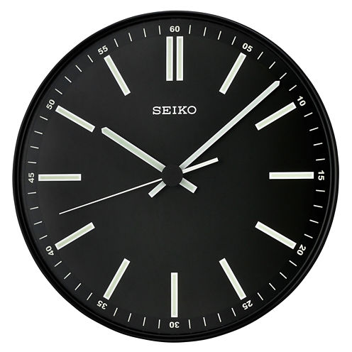 Seiko® Quiet Sweep Second Hand Wall Clock Black Qxa521jlh