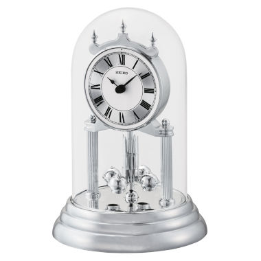 jcpenney.com | Seiko® Silver-Tone Anniversary Mantel Clock with Glass Dome Qhn006slh