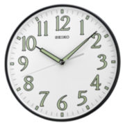 Seiko® Wall Clock With Luminous Hands And Numerals Qxa521klh