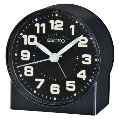 jcpenney.com | Seiko® Bedside Alarm With Beep Alarm Black ClockQhe084klh