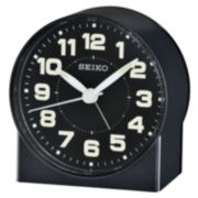 Seiko® Bedside Alarm With Beep Alarm Black Clock Qhe084klh