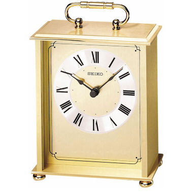 jcpenney.com | Seiko® Desk And Table Carriage-Style Gold Tone Clock Qhg102gl