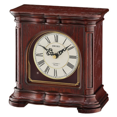 jcpenney.com | Seiko® Brown Wooden Musical Desk/table Clock Qxw243blh