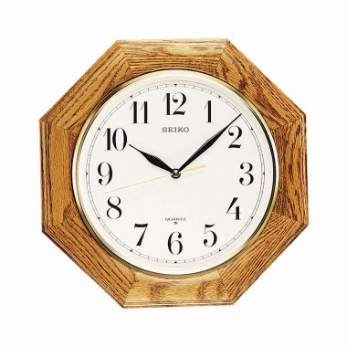 jcpenney.com | Seiko® Decorative Wall Clock With Solid Oak CaseQxa102bc