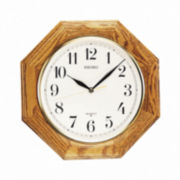 Seiko® Decorative Wall Clock With Solid Oak Case Qxa102bc